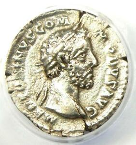 Marcus Aurelius AR Denarius Silver Roman Coin 166-169 AD - Certified ANACS VF20