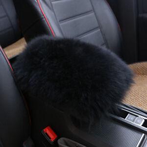 Car Sheepskin Wool Center Console Armrest Box Cover Pad Cushion Soft Mat