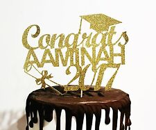 Class of 2017 Personalised Cake Topper, graduation party, graduation cake.