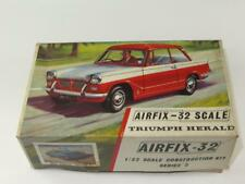 RARE Airfix Model Car Kit 1/32 Triumph Herald 1200 Red Stripe Box 1960s