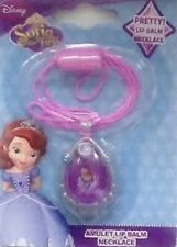 Disney Sofia The First Amulet Lip Balm Necklace - BN Authentic - UK Seller
