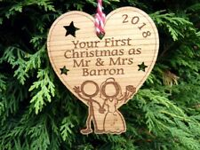 Your First Christmas as Mr & Mrs Personalised 1st Decoration Bauble and Gift