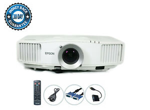 Epson PowerLite Pro G5000 3LCD Projector 4000 ANSI LAN HDMI-adapter w/Remote