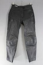 ASHMAN BLACK COWHIDE LEATHER BIKER TROUSERS SIZE 14 - WAIST 30IN/INSIDE LEG 29IN
