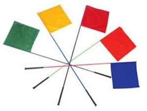 """KOEHN Whip Flag with Golf Grip 50"""" Assorted Colors Sorting Livestock"""