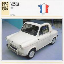 1957-1962 VESPA 400 Classic Car Photograph / Information Maxi Card