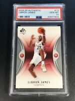 LEBRON JAMES 2006 UPPER DECK SP AUTHENTIC #13 EARLY BASE CARD PSA 10