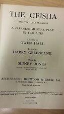 Jones: The Geisha: Music Score (J5)