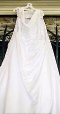 A-Line Wedding Dress Size 18W w/corset back (waist belt not included)