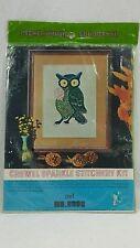 Crewel Sparkle Stitchery Kit Owl 699c