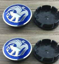 Vauxhall Hub Alloy Wheel Centre Caps.Set of 4. Astra Zafira Corsa Blue 56mm