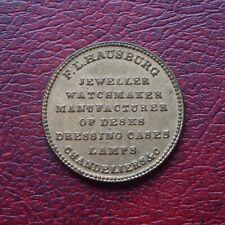F. L. Hausburg, Jeweller, Liverpool unofficial farthing token
