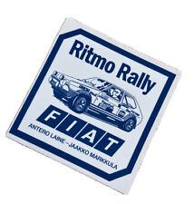 FIAT RITMO RALLY RACING TEAM STICKER CLASSIC ANTERO LAINE JAAKKO MARKKULA 1960s