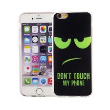 Étui de Portable pour Apple IPHONE 6/6s Don'T Touch Vert Étui Housse Coque Motif