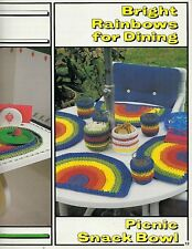 Crochet a Rainbow with Macrame Knitted Cord, Rug & Placemat Patterns Book 7575
