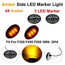 4X Black Smoked Amber Side Marker Fender Dually Bed Lights For Ford F350 99-10