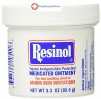 Resinol Medicated Ointment 3.3 oz Skin Protectant Relives Minor Skin Irritations