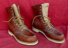 Vintage Red Wing Made In USA Moccasin Toe Crepe Sole Work Boots~Size 9.5D-NR