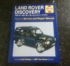 HAYNES MANUAL LAND ROVER DISCOVERY 1989 to 1995 DIESEL, TDI MODELS, COMMERCIAL.