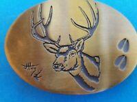 Elk Head Belt Buckles Hooves J. Hoy Bitterroot Buckles Solid Bronze Hunting