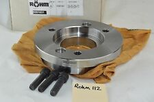 """Rohm Lathe Chuck Back Plate A2-6 Spindle Adapter For ZSU 250 Hi-tru 250mm 10"""""""