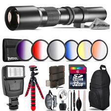 500mm Telephoto Lens for Nikon D3300 D3400 + Flash - 32GB Kit