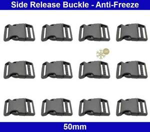 Side Release Buckles - Contoured - 50mm - Anti-Freeze