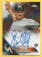 2016 Topps Chrome Baseball Brian Ellington Rookie Auto Autograph Marlins