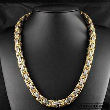 60cm / φ14mm BIZANTINO Collar Big CADENA Cadena Acero Inoxidable Oro Plata