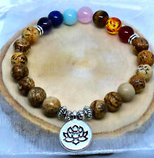 Ladies 7 Chakra Balancing Healing Reiki Natural Stone Power Bead Energy Bracelet