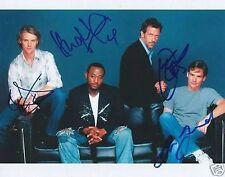 HOUSE MD MEN.. Hugh Laurie, Robert S Leonard, Jesse Spencer & Omar Epps - SIGNED