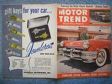 1952 AUGUST MOTOR TREND MAGAZINE VOL 4 NO 8  HUDSON TESTS  COACHCRAFT VACATION