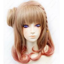 168 Amnesia Heroine Cosplay Costume Party Brown Wig free shipping+wig cap