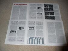 1972 Super Amplificatore Test,Fase Lineare 700,Crown DC-300,Marantz 250,Altri