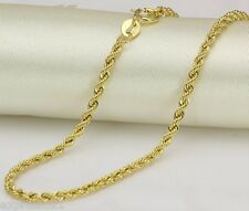 """19.7"""" Authentic AU750 18K Yellow Gold Chain Necklace/ Rope Chain Necklace"""