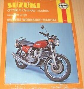 MAN302 Haynes Manual de Taller para Suzuki T GT GT750 1971A 1977