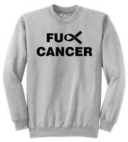 Mens F---k Cancer Ribbon Sweatshirt Cause Faith Sweater