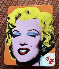 Andy Warhol Marilyn Monroe Art Present Jigsaw Puzzle Tin Galison Modern Art Gift