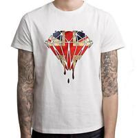 Dripping Diamond Union Jack Men's T-Shirt - Melting Dope Swag Hipster Tumblr