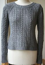AUTUMN CASHMERE CABLE KNIT SWEATER SMALL