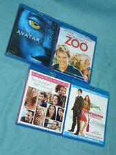 Lot 4 Blu-Ray Discs Avatar We Bought a Zoo Confessions Shopaholic He's Just Not