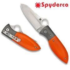 Spyderco Firefly Folding Knife, VG10 Steel, Orange G10 Handle & Carbon Fiber