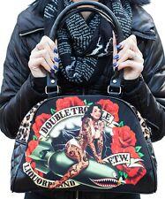 Liquorbrand Double Trouble Rockabilly Tattooed Pin-Up Bomber Girl Vegan Purse