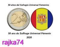 Andorra - 2 Euro 2020 - Frauenwahlrecht in Andorra - 60.000 Coincards    ! VVK !