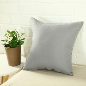 Solid Color Square Home Sofa Decor Pillow Cushion Cover Case 16 18 20 22 24 Lot