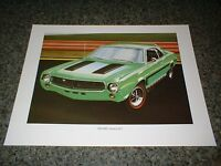 ★★1969 AMC JAVELIN SST AMERICAN MOTORS ART 69 68 70 71 AMX 390 POSTER GREEN★★