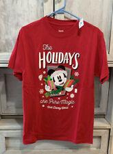 Disney Parks Disney World The Holidays Are Pure Magic Mickey T-Shirt Size S Nwt