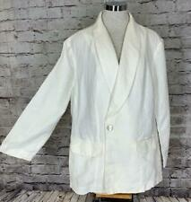 J. Jill 3X Blazer Jacket 100% Linen Off White Unlined