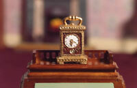 Dolls House Emporium Miniature 1/12th Scale Gold Carriage Clock 4528