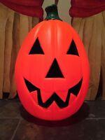 "Large New 23"" Halloween Jack-O-Lantern Blow Mold Lighted Pumpkin Yard Decoration"